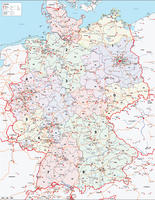 Digital ZIP code map Germany