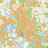 Digital city map Düsseldorf