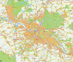 Digital city map Dresden