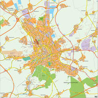 Digital city map Erfurt