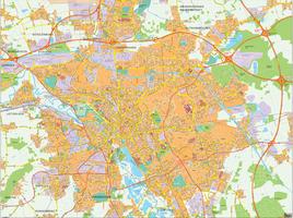 Digital map Hannover