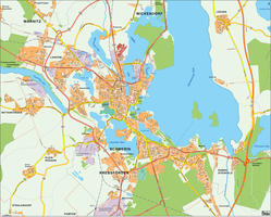 Digital city map Schwerin