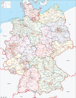 Digital map Germany