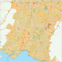 Digital map Athens