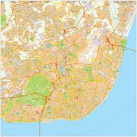 Digitale kaart Lissabon / Lisbon 480