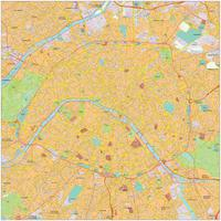 Digital map Paris