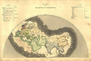 Digital World Map year 1846 Edward Quin