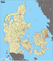 Digital ZIP code map Denmark