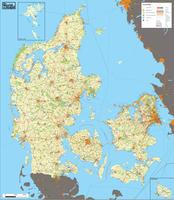 Digital detailed map Denmark