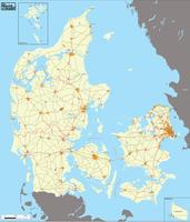 Digital basic map Denmark