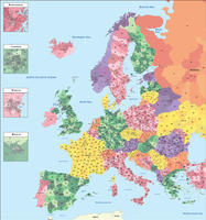 Digital ZIP code map Europe