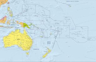 Digital Oceania political map