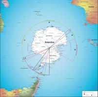 Digital map Antarctic