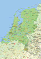 Digital physical map of The Netherlands