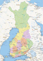 Digital political map of Finland