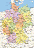 Digital political map of Germany