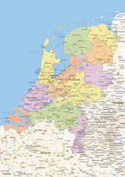 Digital politcal map of The Netherlands