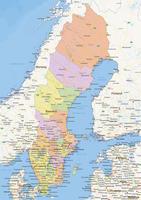 Digital political map of Sweden