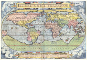 Digital World Map Year 1570 Abraham Ortelius