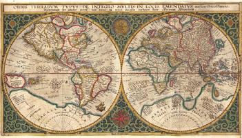 Digital World Map Year 1594 Petro Plancio