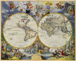 Digital World Map Year 1683 Johannes de Ram