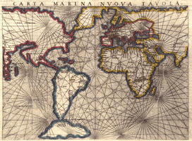 Digital World Map Year 1561 Girolamo Rusceli