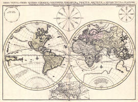 Digital World Map Year 1684 Nicolas Sanson