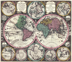 Digital World Map Year 1725 Matthaeus Seutter
