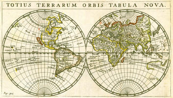 Digital World Map year 1679 Totius Terrarum