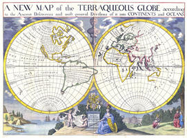 Digital World Map year 1700 Edward Wells