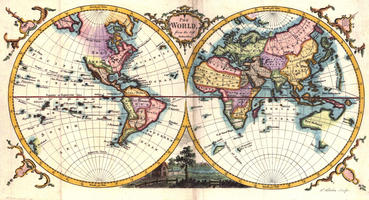 Digital World Map Year 1780 Kitchin