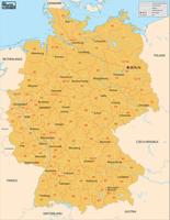 Digital postcode map Germany 2-digit