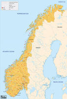 Digital postcode map Norway 2-digit