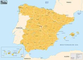 Digital postcode map Spain 2-digit