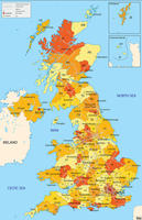 Digital ZIP code map United Kingdom