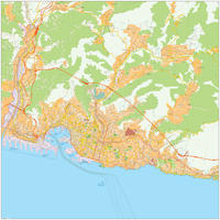 Digital map Genoa