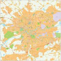 Digitale kaart Krakau / Krakow 478