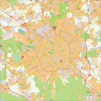 Digitale kaart Milaan / Milan 485