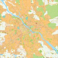 Digitale kaart Warschau / Warsaw 499