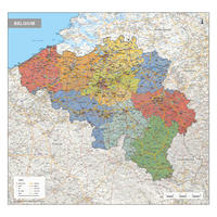 Digital Political map Belgium