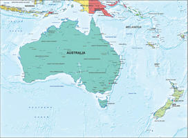 Digital map Australia political