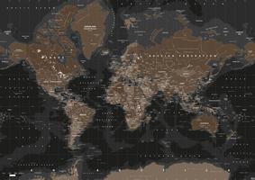 Digital world map highlands