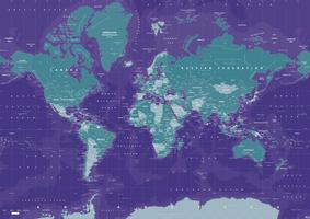 Digital world map galactic