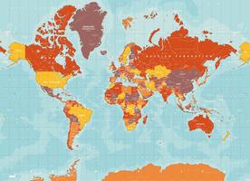 Digital world map yosemite