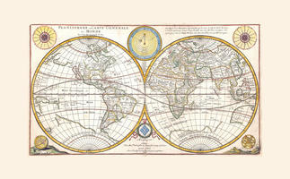 Digital World Map Year 1684 de Abbeville