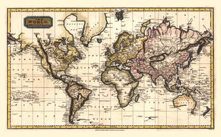 Digital World Map Year 1798 Finley