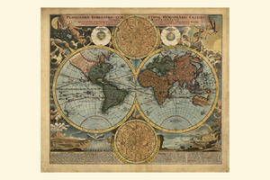 Digital World Map Year 1716 Johann Baptist Homann