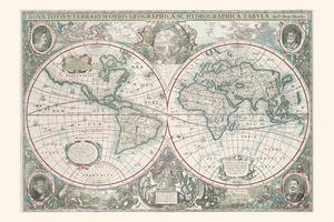 Digital World Map Year 1630 Hondius