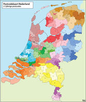 Digital postcode map The Netherlands
