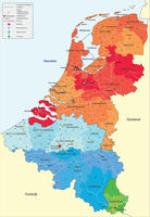 Digital ZIP code map Benelux 2-digit